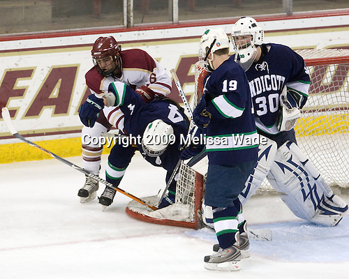 Thomas Greeley (BC - 6), Mike Vacca (Endicott - 4), Craig Ward (Endicott - 19), Ryan Fullerton (Endicott - 30) - The Boston College Eagles defeated the Endicott College Gulls 6-1 in a Northeast Collegiate Hockey Association (ACHA) matchup on Tuesday, November 3, 2009, at Conte Forum in Chestnut Hill, Massachusetts.