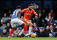Blackpool's Liam Feeney breaks away from Portsmouth's  Anton Walkes<br /> <br /> Photographer Andrew Kearns/CameraSport<br /> <br /> The EFL Sky Bet League One - Portsmouth v Blackpool - Saturday 12th January 2019 - Fratton Park - Portsmouth<br /> <br /> World Copyright &copy; 2019 CameraSport. All rights reserved. 43 Linden Ave. Countesthorpe. Leicester. England. LE8 5PG - Tel: +44 (0) 116 277 4147 - admin@camerasport.com - www.camerasport.com