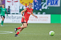 Portland, Oregon - Sunday September 11, 2016: Portland Thorns FC defender Emily Menges (4) during a regular season National Women's Soccer League (NWSL) match at Providence Park.