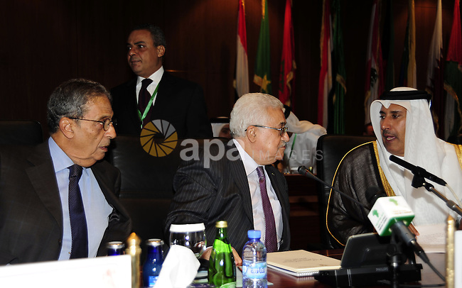 Palestinian President Mahmoud Abbas (Abu Mazen) during a meeting of the Higher Arab Monitoring Committee , in the Libyan city of Sirte on October 8,2010 . Photo by Omar Rashidi