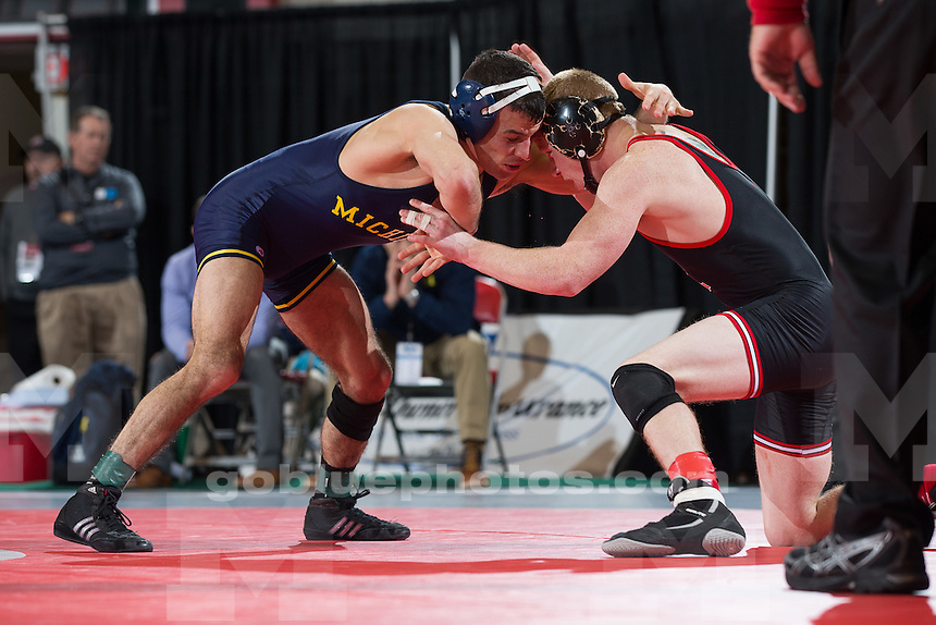 Session 2 of the Big Ten Wrestling Championships in Columbus, Ohio on March 7, 2015.