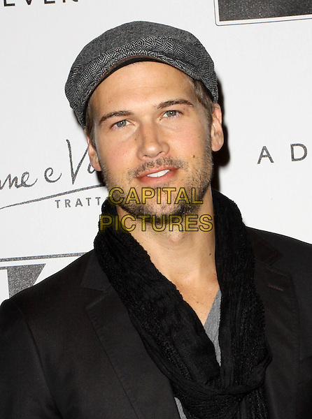 NICK ZANO.Rusnak Rolls Royce Unveils new Models presenting Kevan Hall Spring 2010 Collection Show During Fashion week Los Angeles held At Universal Studios, Hollywood, California, USA..October 17th, 2009.headshot portrait black suit grey gray top scarf stubble facial hair .CAP/ADM/KB.©Kevan Brooks/AdMedia/Capital Pictures.