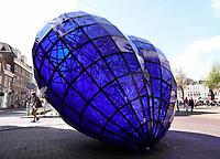 Nederland Delft - 2018. Het Blauwe Hart. Een kunstwerk van Marcel Smink.    Foto Berlinda van Dam / Hollandse Hoogte