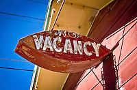 Old motel signs in Tucumcari New Mexico on historic route 66.