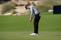 Laurie Canter (ENG) on the 10th during Round 1 of the Commercial Bank Qatar Masters 2020 at the Education City Golf Club, Doha, Qatar . 05/03/2020<br /> Picture: Golffile | Thos Caffrey<br /> <br /> <br /> All photo usage must carry mandatory copyright credit (© Golffile | Thos Caffrey)