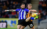 Sheffield Wednesday's Steven Fletcher shields the ball from Hull City's Stephen Kingsley<br /> <br /> Photographer Chris Vaughan/CameraSport<br /> <br /> The EFL Sky Bet Championship - Hull City v Sheffield Wednesday - Saturday 12th January 2019 - KCOM Stadium - Hull<br /> <br /> World Copyright © 2019 CameraSport. All rights reserved. 43 Linden Ave. Countesthorpe. Leicester. England. LE8 5PG - Tel: +44 (0) 116 277 4147 - admin@camerasport.com - www.camerasport.com