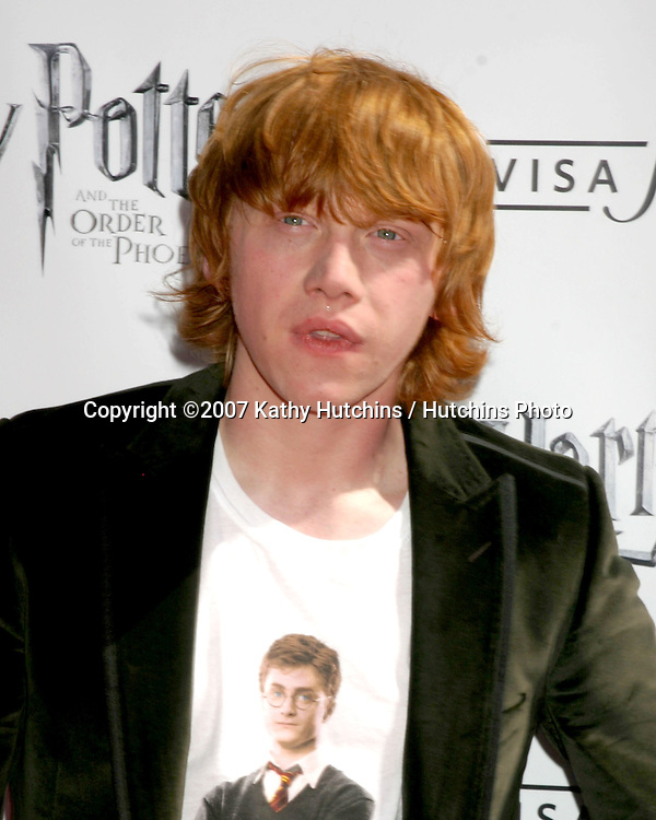 """Rupert Grint.U.S. Premiere of """"Harry Potter and the Order of the Phoenix"""".Grauman's Chinese Theater.Los Angeles, CA.July 8, 2007.©2007 Kathy Hutchins / Hutchins Photo..."""