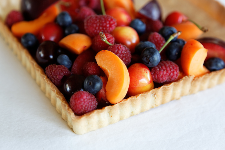 Fresh fruit tart, by pastry chef Laurie Pfalzer, Pastry Craft