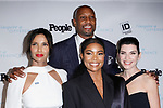 (Front left to right) Padma Lakshmi, Gabrielle Union, Julianna Marguilies, and Alonzo Mourning (back) arrive at the 2017 INSPIRE A DIFFERENCE honors event by Investigation Discovery and PEOPLE, at the Dream Hotel Downtown, on November 2, 2017.