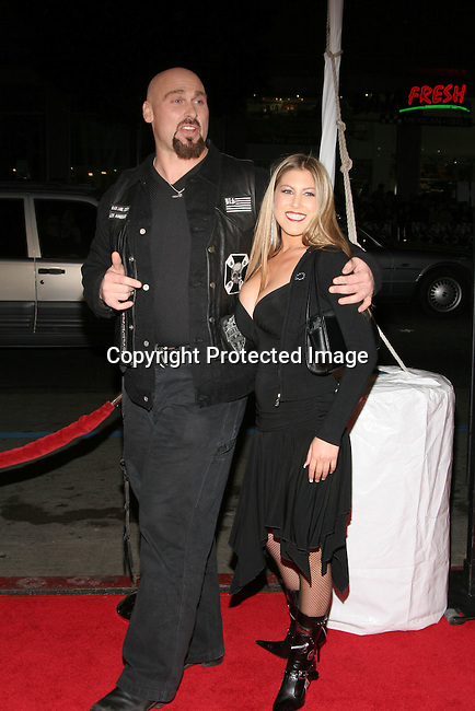 Andrew Bryniarski with Wife <br />