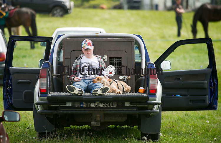 Patrick O' Halloran from Shannon taking things easy during the Newmarket Show at the weekend. Photograph by Declan Monaghan