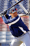 13 March 2007: Detroit Tigers catcher Steve Torrealba takes batting practice prior to facing the Los Angeles Dodgers in a spring training game at Holman Stadium in Vero Beach, Florida.<br /> <br /> Mandatory Photo Credit: Ed Wolfstein Photo