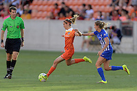 Houston, TX - Sunday Sept. 11, 2016: Morgan Brian, Louise Schillgard during a regular season National Women's Soccer League (NWSL) match between the Houston Dash and the Boston Breakers at BBVA Compass Stadium.