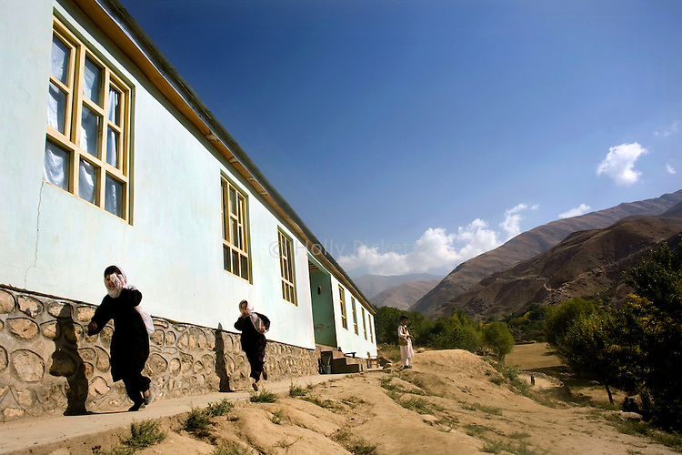 The girls' new high school in Farghamanch, Jurm district, Badakhshan province, Afghanistan, Saturday morning, Oct. 24, 2009. Although people's poverty is high in the village, the local mullah was at first resistant to change. The Aga Khan Foundation worked for years to earn people's trust in the village, a place seen by few outsiders. As the Obama Administration seeks the formula for turning the tide of the war in Afghanistan, some aid organizations are advocating the National Solidarity Programme, a community-based development program that has made progress in some districts, setting up local councils that propose much-needed projects such as schools, drinking water facilities and roads.
