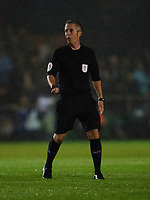 Referee Darren Bond<br /> <br /> Photographer Andrew Vaughan/CameraSport<br /> <br /> The Carabao Cup Second Round - Lincoln City v Everton - Wednesday 28th August 2019 - Sincil Bank - Lincoln<br />  <br /> World Copyright © 2019 CameraSport. All rights reserved. 43 Linden Ave. Countesthorpe. Leicester. England. LE8 5PG - Tel: +44 (0) 116 277 4147 - admin@camerasport.com - www.camerasport.com