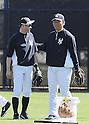 (L-R) Ichiro Suzuki,  Hideki Matsui (Yankees),<br /> FEBRUARY 20, 2014 - MLB :<br /> New York Yankees' Ichiro Suzuki and guest instructor Hideki Matsui during the New York Yankees spring training baseball camp at George M. Steinbrenner Field in Tampa, Florida, United States. (Photo by AFLO)