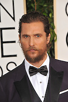 Matthew McConaughey at the 72nd Annual Golden Globe Awards at the Beverly Hilton Hotel, Beverly Hills.<br /> January 11, 2015  Beverly Hills, CA<br /> Picture: Paul Smith / Featureflash