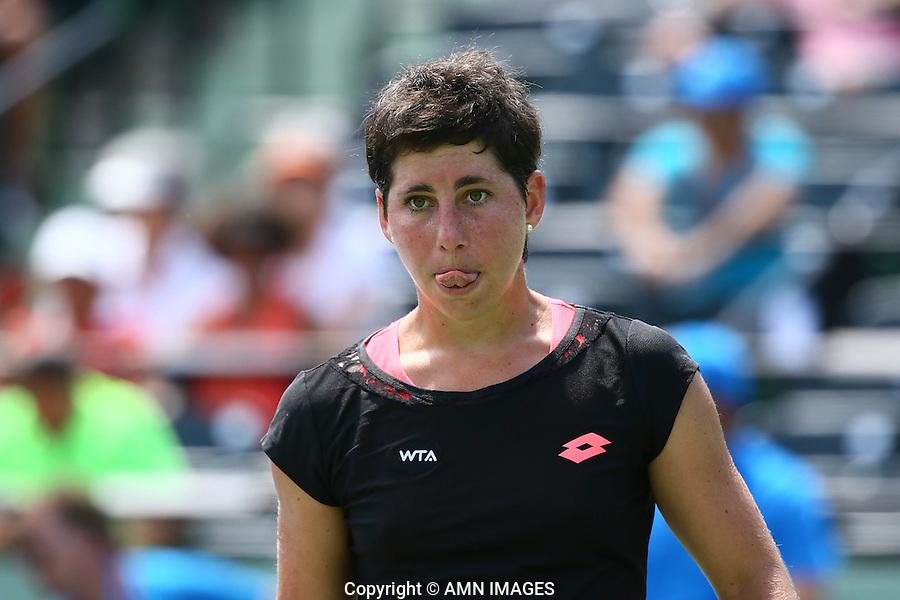 CARLA SUAREZ NAVARRO (ESP)<br /> <br /> Tennis - MIAMI OPEN 2015 - ATP 1000 - WTA Premier -  Crandon park Tennis Centre  - Miami - United States of America - 2015<br /> &copy; AMN IMAGES