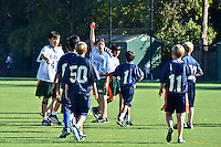 The Harker School - MS - Middle School - Harker 6th grade flag football versus Menlo School - Photo by Maria Gong, parent