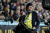 2nd December 2017, Rioch Arena, Coventry, England; Aviva Premiership rugby, Wasps versus Leicester; The Wasps drummer entertains the Wasps fans