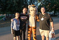 Brian Lynn '18 and his family. Occidental College students, their families and alumni enjoy the Tiger Tailgate & Oswald's Carnival in the Academic Quad during Homecoming, Oct. 25, 2014. (Photo by Marc Campos, Occidental College Photographer)
