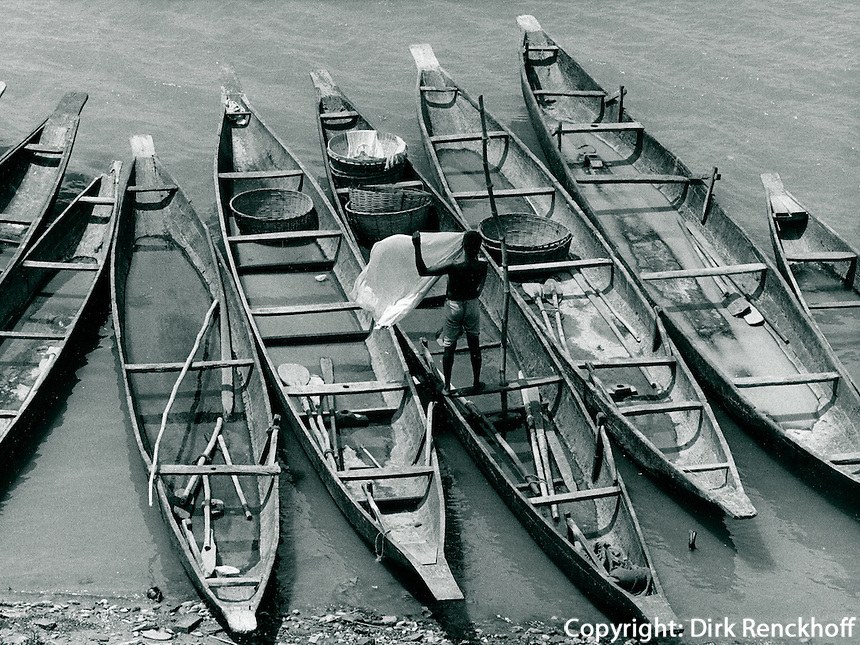 Boote am Ganges, Indien 1974