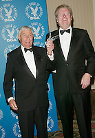 Honoree Don Hewitt with presenter Sir Howard Stringer at the 3rd Annual Directors Guild Of America Honors at the Waldorf-Astoria in New York City. June 9, 2002. <br />