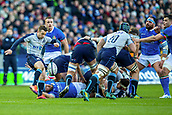 2nd February 2019, Murrayfield Stadium, Edinburgh, Scotland; Guinness Six Nations Rugby Championship, Scotland versus Italy; Greig Laidlaw of Scotland clears the ball