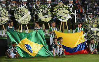 MEDELLIN-COLOMBIA- 30-11-2016. Homenaje póstumo a las victimas del Chapecoense en el estadio Atanasio Girardot./ Posthumous tribute to the victims of Chapecoense at the Atanasio Girardot Stadium . Photo:VizzorImage / León Monsalve / Contribuidor