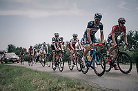 Guillaume Martin (FRA/Wanty-Groupe Gobert) & Jurgen Roelandts (BEL/Lotto-Soudal) taking it easy in the back of the peloton<br /> <br /> 104th Tour de France 2017<br /> Stage 6 - Vesoul › Troyes (216km)