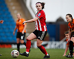 Sam Tierney of Sheffield Utd during the The FA Women's Championship match at the Proact Stadium, Chesterfield. Picture date: 8th December 2019. Picture credit should read: Simon Bellis/Sportimage