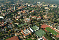 16 November 2005: Photos from the air of the Stanford tennis facilities in Stanford, CA. Hoover Tower can be seen in the backround.