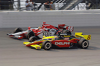 11 September, 2005, Joliet,IL,USA<br /> Dan Wheldon and Scott Sharp (8).<br /> Copyright&copy;F.Peirce Williams 2005