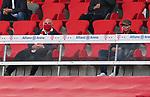 23.05.2020, Allianz Arena, nph00250, , München, GER, 1.FBL, FC Bayern München vs Eintracht Frankfurt 23.05.2020 , <br /><br />Nur für journalistische Zwecke!<br /><br />Gemäß den Vorgaben der DFL Deutsche Fußball Liga ist es untersagt, in dem Stadion und/oder vom Spiel angefertigte Fotoaufnahmen in Form von Sequenzbildern und/oder videoähnlichen Fotostrecken zu verwerten bzw. verwerten zu lassen. <br /><br />Only for editorial use! <br /><br />DFL regulations prohibit any use of photographs as image sequences and/or quasi-video..<br />im Bild<br />Uli HOENESS (former FCB President ),  Franz BECKENBAUER ( ex FCB President, captain of honor FCB)  <br />    <br /> Foto: Peter Schatz/Pool/Bratic/nordphoto