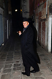 ITALY, Venice. Portrait of Actor Peter Weller in the streets of Venice at night.