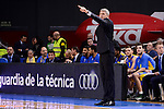 Maccabi Fox's coach Ainars Bagatskis during Turkish Airlines Euroleague match between Real Madrid and Maccabi at Wizink Center in Madrid, Spain. January 13, 2017. (ALTERPHOTOS/BorjaB.Hojas)