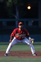 Jake Hernandez #21of the Southern California Trojans during a game against the UC Irvine Anteaters at Dedeaux Field on April 29, 2014 in Los Angeles, California. Stanford defeated Southern California, 6-2. (Larry Goren/Four Seam Images)