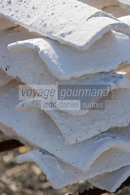 Europe/France/Aquitaine/33/Gironde/Bassin d'Arcachon/Gujan-Mestras: Port Larros (Port Ostréicole) Détail tuiles qui servent de collecteur pour le nessain des huitres