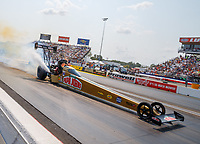 Sep 4, 2017; Clermont, IN, USA; NHRA top fuel driver Leah Pritchett during the US Nationals at Lucas Oil Raceway. Mandatory Credit: Mark J. Rebilas-USA TODAY Sports