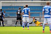 DOETINCHEM - Voetbal. De Graafschap - FC Emmen, voorbereiding seizoen 2017-2018, 12-08-2017,  de Graafschap speler Daryl van Mieghem scoort de 1-0