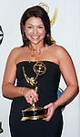 Actress Rachael Ray smiles backstage after winning the award for Outstanding Talk show/Entertainment Program at the 35th Annual Daytime Emmy Awards held at the Kodak Theatre in Los Angeles on June 20, 2008.