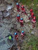 Canyoning, Freizeitpark Area 47, &Ouml;tztal-Bahnhof, Imst, Tirol, &Ouml;sterreich, Europa<br /> Canyoning, outdoor sports park Area 47, &Ouml;tztal-Bahnhof,, Imst, Tyrol, Austria, Europe