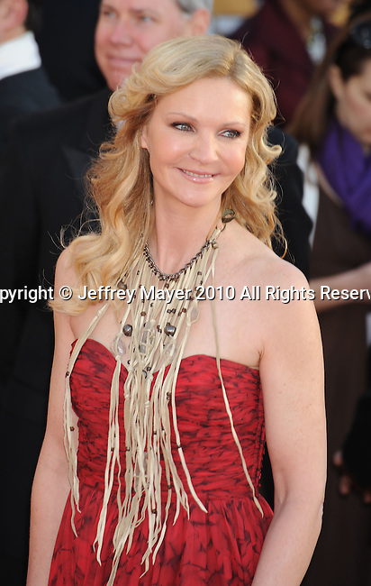 LOS ANGELES, CA. - January 23: Joan Allen arrives at the 16th Annual Screen Actors Guild Awards held at The Shrine Auditorium on January 23, 2010 in Los Angeles, California.