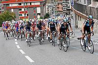 The peloton through the streets of Andorra during the stage of La Vuelta 2012 between Lleida-Lerida and Collado de la Gallina (Andorra).August 25,2012. (ALTERPHOTOS/Paola Otero) /NortePhoto.com<br /> <br /> **CREDITO*OBLIGATORIO** <br /> *No*Venta*A*Terceros*<br /> *No*Sale*So*third*<br /> *** No*Se*Permite*Hacer*Archivo**<br /> *No*Sale*So*third*