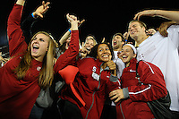 29 September 2007: Stanford Cardinal basketball Jeanette Pohlen, Jayne Appel, Rosalyn Gold-Onwude, Peter Prowitt, JJ Hones, and Will Paul during Stanford's 41-3 loss against the Arizona State Sun Devils at Stanford Stadium in Stanford, CA.