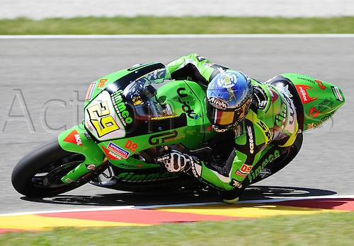 06 06 2010 Andrea Iannone, winner.ITA Speed Up. Moto2 class, 600cc spec Honda eninges in prototype chassis. Gran Premio d'Italia TIM, Mugello circuit, Italy.