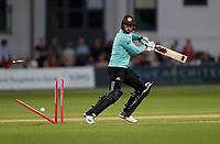 Jordan Clark of Surrey is bowled by Hardus Viljoen during Kent Spitfires vs Surrey, Vitality Blast T20 Cricket at the St Lawrence Ground on 23rd August 2019