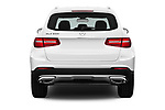 Straight rear view of a 2018 Mercedes Benz GLC-Class 300 5 Door SUV stock images