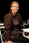 8 Oct 2009 Athens Greece. Actress Charlotte Rampling recites poetry of Constantinos Kavafys and Marguerite Yourcenar in French institute of Greece. Credit Aristidis Vafeiadakis/ZUMA Press.
