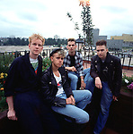 Portrait of British band Depeche Mode photographed in the early 1980's.<br /> <br /> © Michael Putland / Retna UK.<br /> Credit all Uses<br /> <br /> * Higher Rates Apply *
